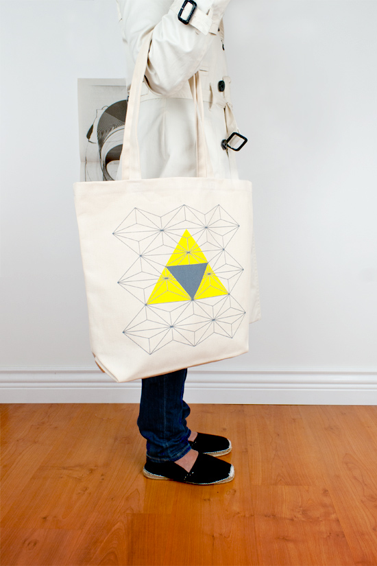 Eye of the Storm. Graphic Tote Bag. 2011 Triangle Series.