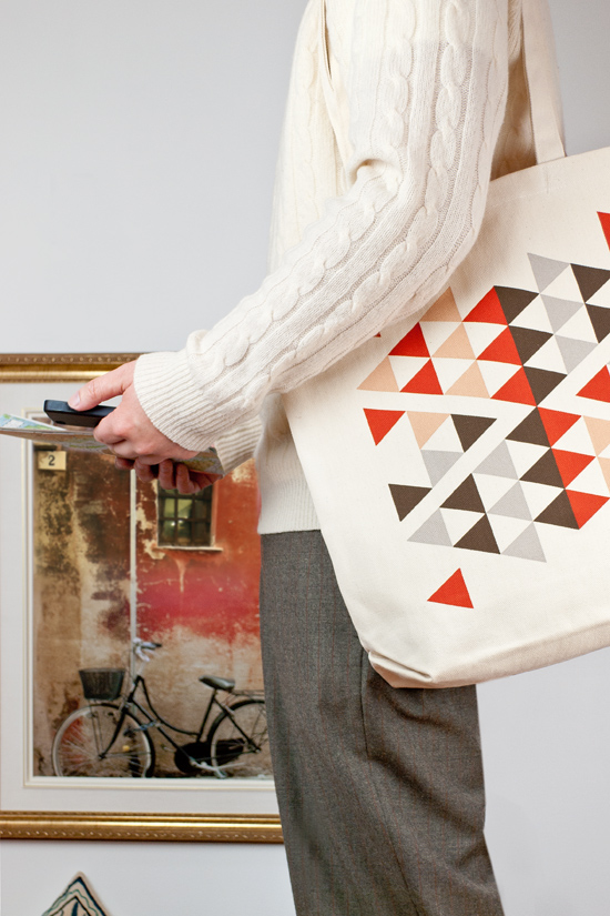 Dreaming of Marrakesh. Graphic Tote Bag. 2011 Triangle Series.